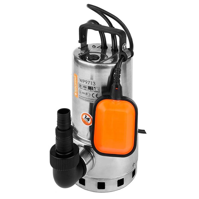 Насос погружной для грязной воды Sturm! WP9713 портативный вибратор для бетона sturm cv7120