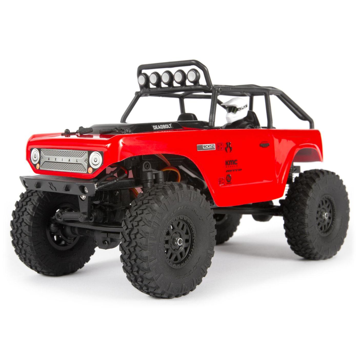 Модель для трофи Axial SCX24 Deadbolt 4WD 1:24, электро, RTR Red