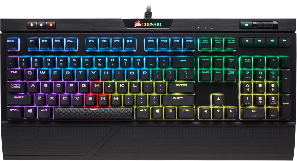Клавиатура Corsair Gaming STRAFE RGB MK.2 Mechanical Gaming Keyboard CHERRY MX Red (RU) клавиатура corsair strafe rgb