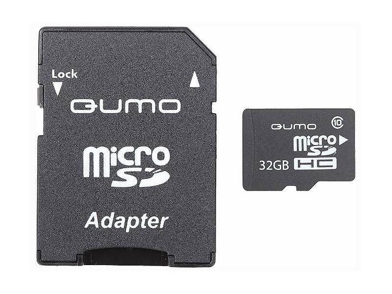 Карта памяти Qumo microSDHC class 10 UHS-I U1 32GB + SD adapter карта памяти samsung 32gb uhs i u1