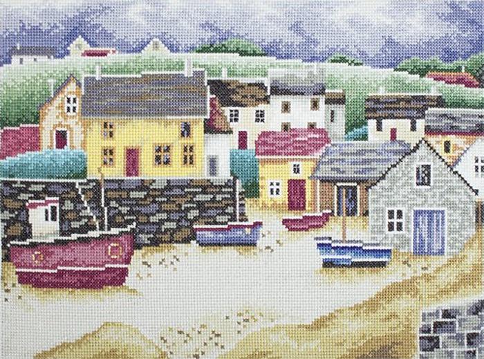 Набор для вышивания РТО Рыбацкий городок (31 x 22 см. ) набор для вышивания крестом рто 3 5 х 5 5 см fa012