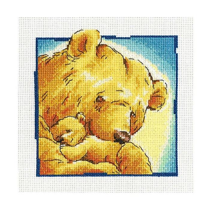 Набор для вышивания РТО Мама (16х16 см., Аида 14) набор для вышивания крестом рто 3 5 х 5 5 см fa012
