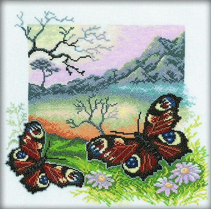 Набор для вышивания РТО Бабочки. Павлиний глаз (30 x 30 см.) настенный светильник odeon light yun 2177 1c