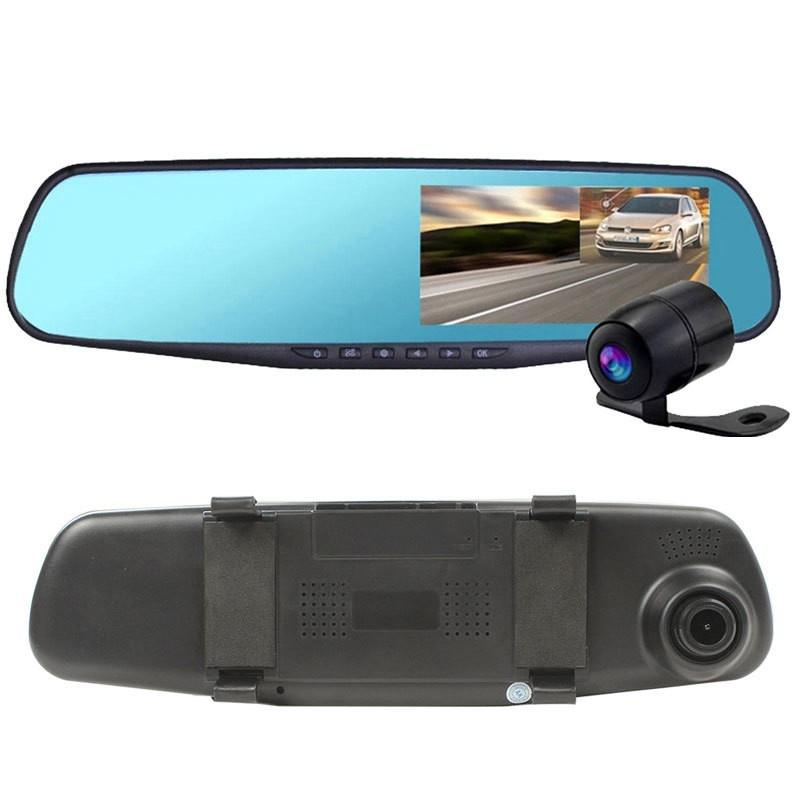 Видеорегистратор-зеркало Vehicle Blackbox DVR Full HD, черный цвет видеорегистратор vehicle blackbox
