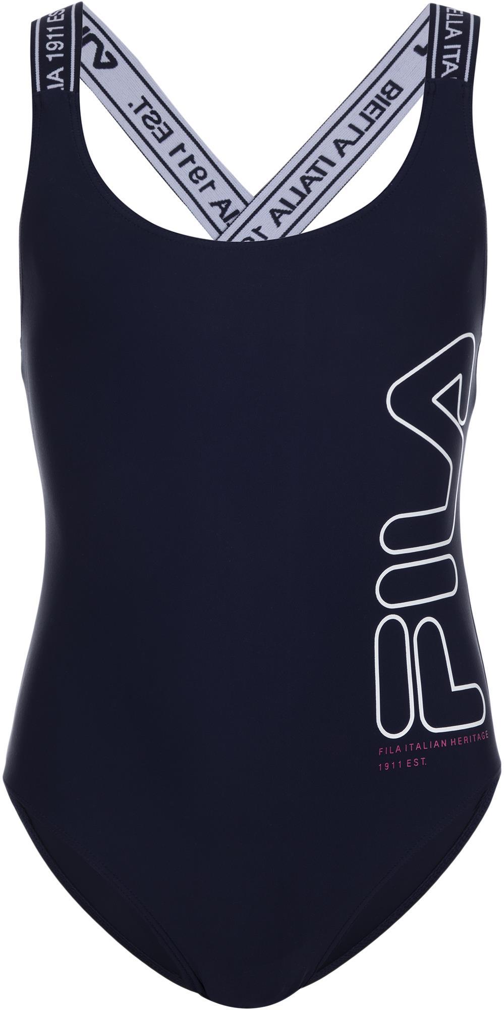 Купальник слитный Fila Girls' Swimsuit lace insert cutout back striped swimsuit