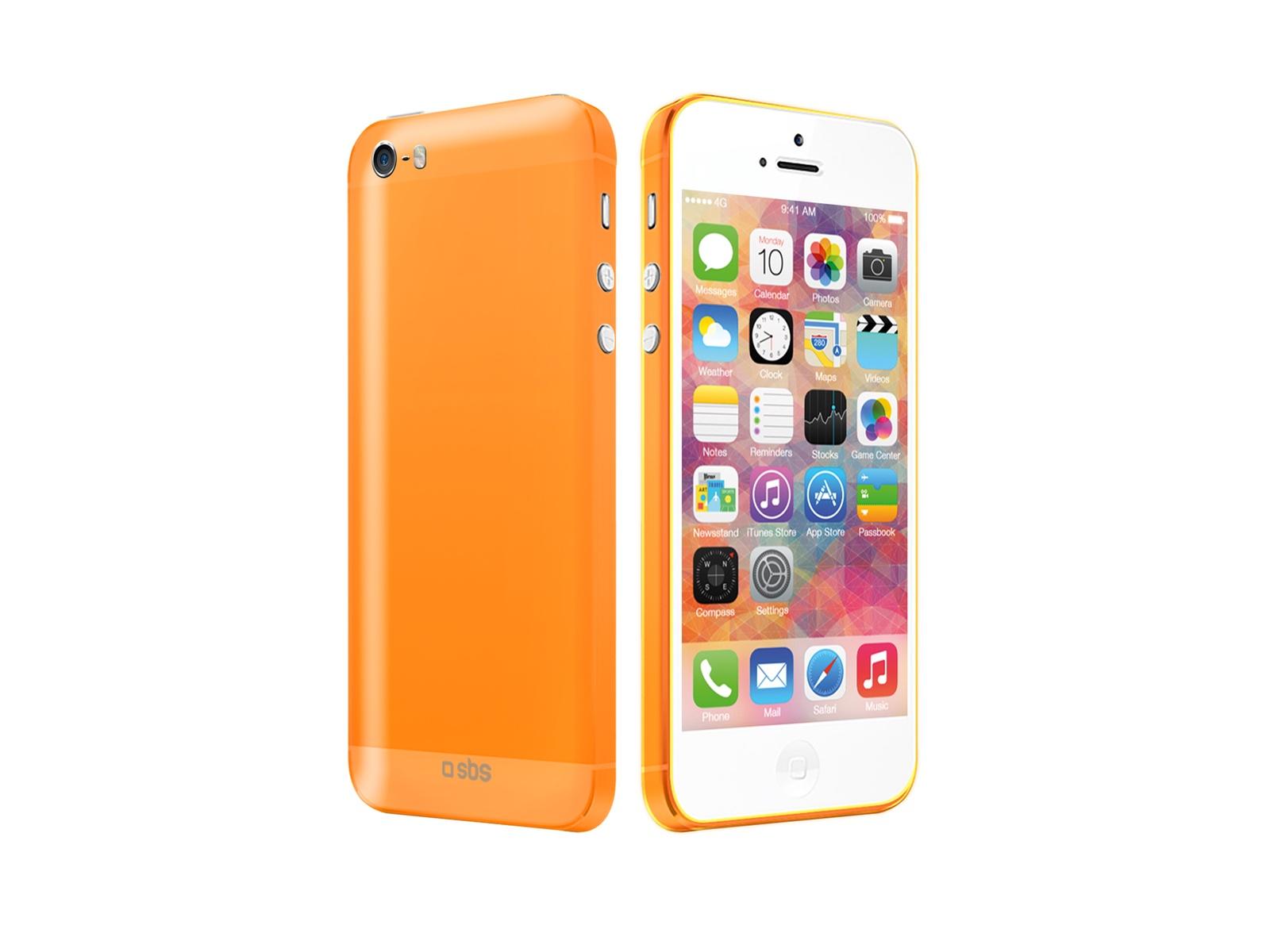 Чехол SBS для iPhone 5 (флуоресцентный, оранжевый) jd коллекция флуоресцентный оранжевый женщина 36
