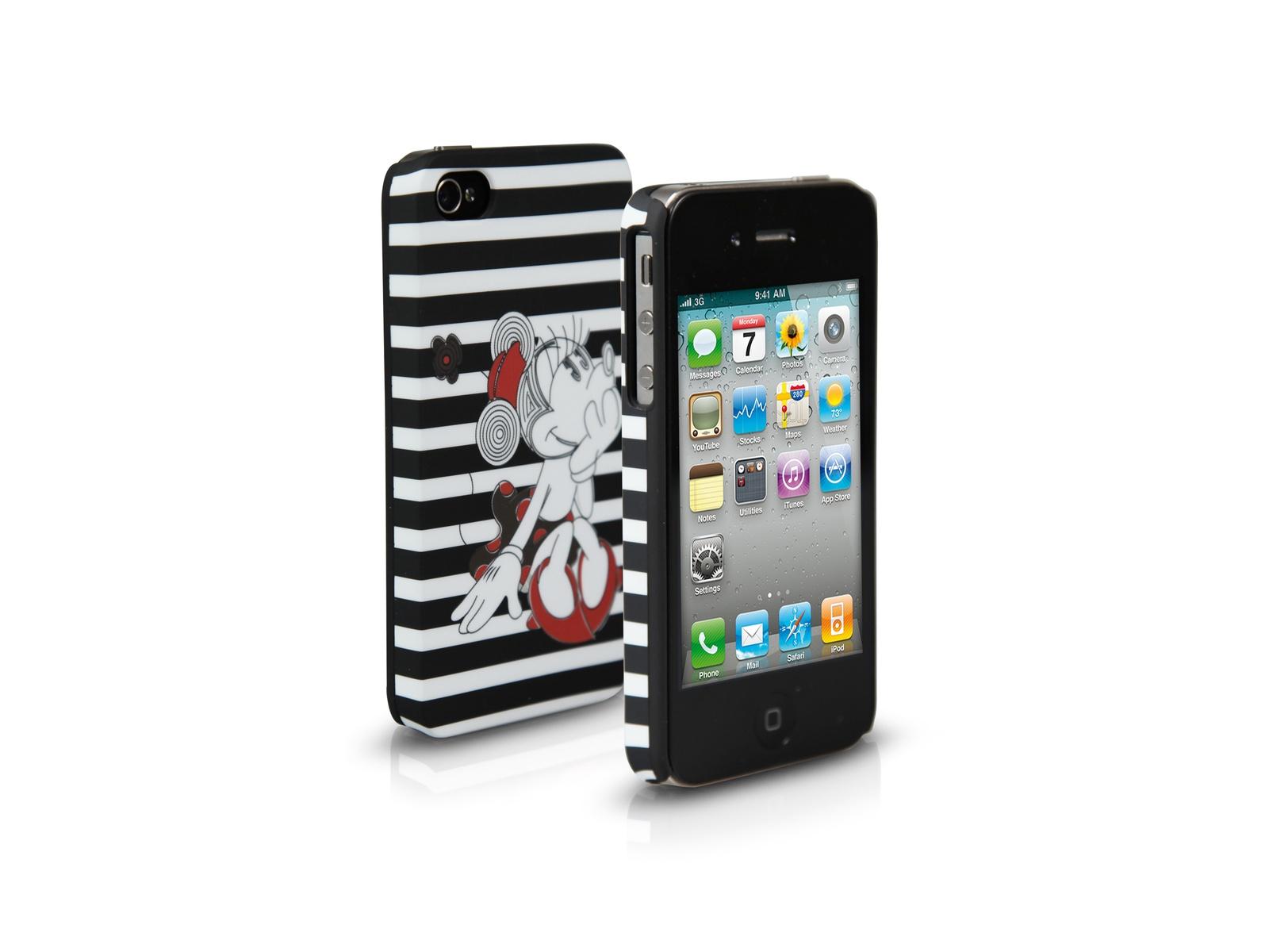 лучшая цена Чехол SBS для iPhone 4/4S (Disney, Минни, полосатый)