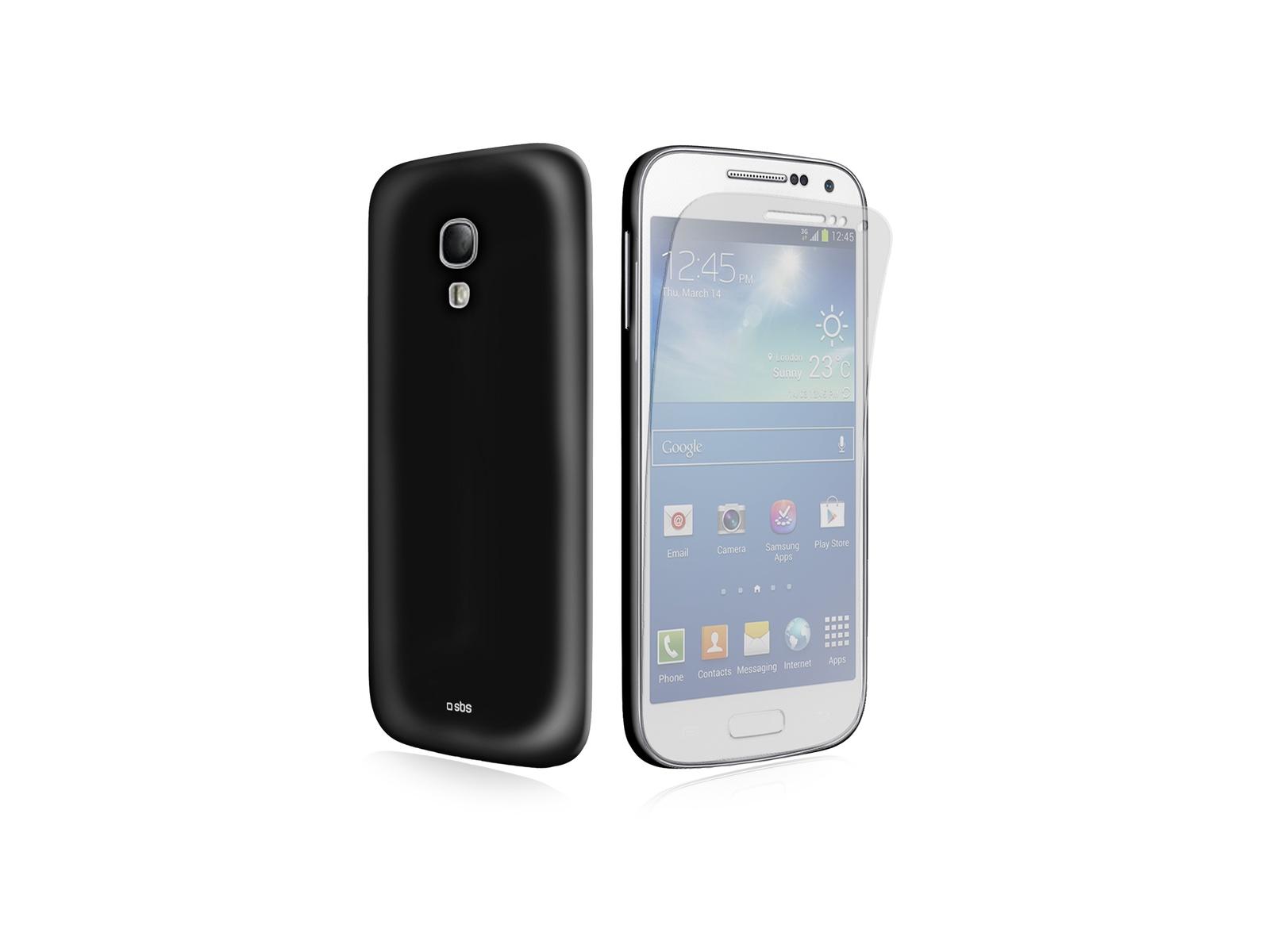 Чехол SBS для Samsung Galaxy S4 Mini I9190 (Aero, черный) + пленка защитная недорого
