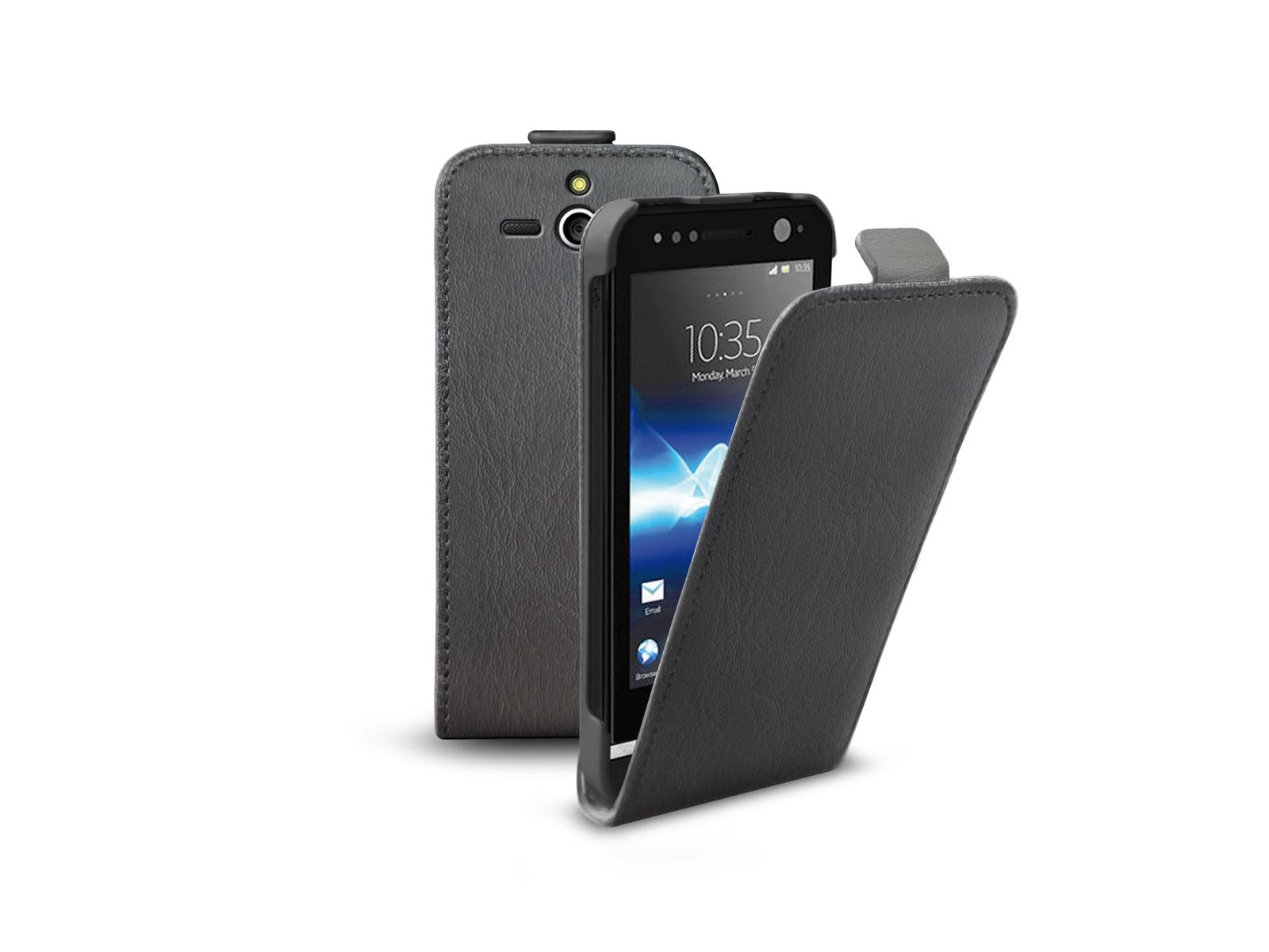 Флип-кейс SBS для Sony Xperia U (магнит. застежка, черный) цена и фото