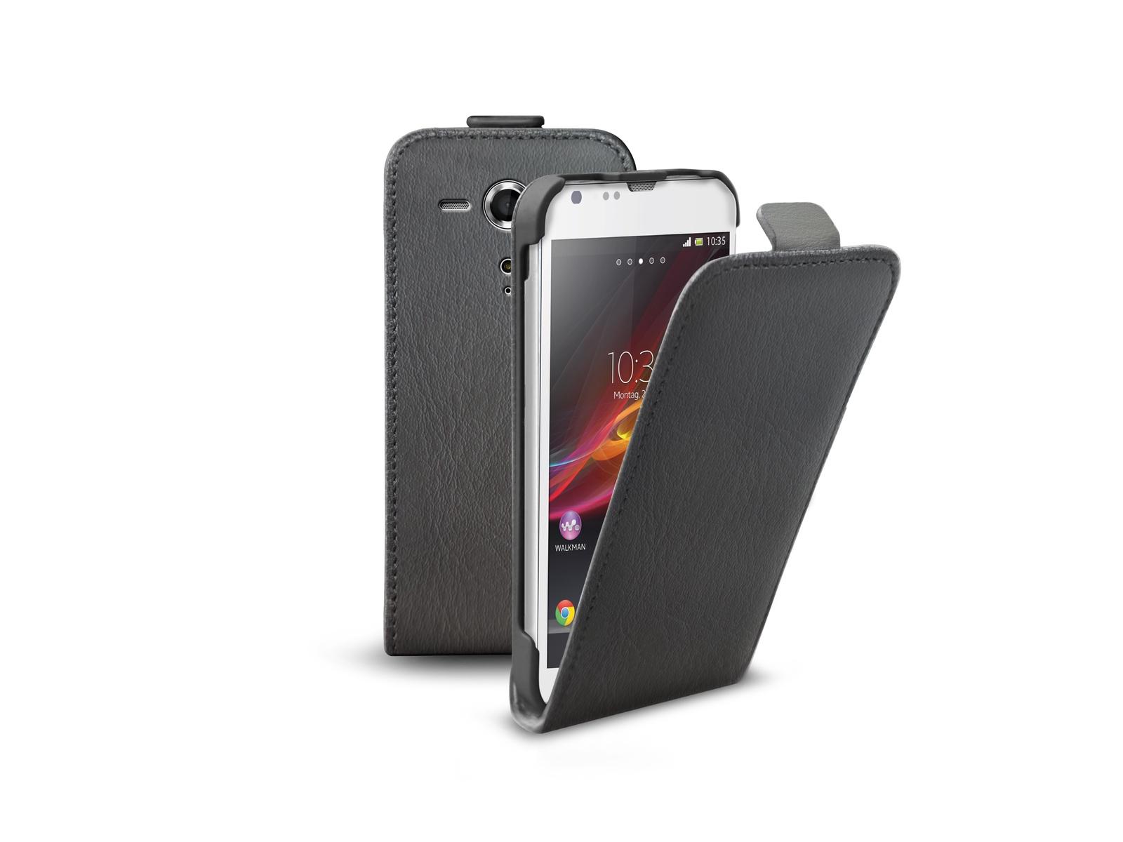 Флип-кейс SBS для Sony Xperia SP (магнит. застежка, черный) цена и фото