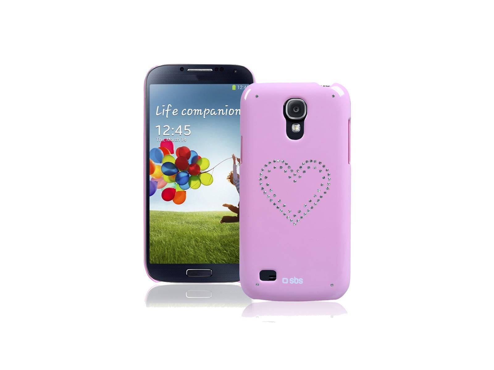 Чехол Bijoux SBS для Samsung Galaxy S4 Mini (блестки, розовый)