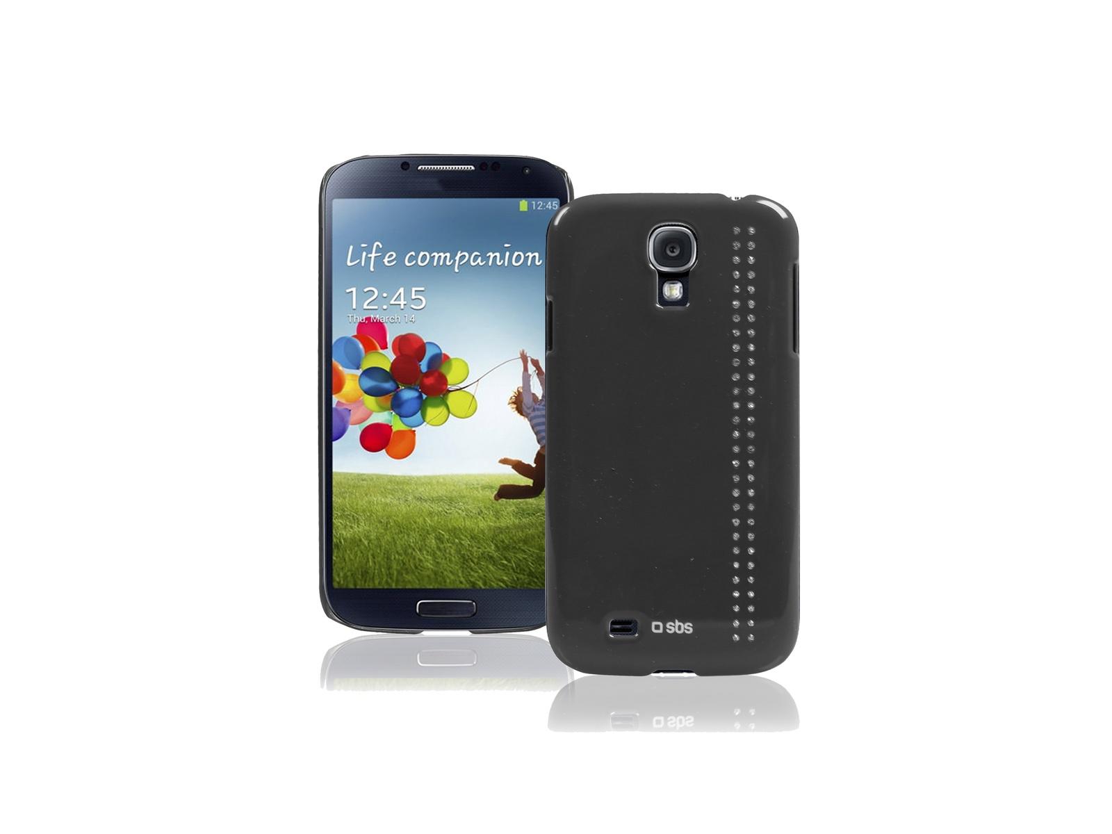 Чехол Bijoux SBS для Samsung Galaxy S4 Mini (блестки, серый)