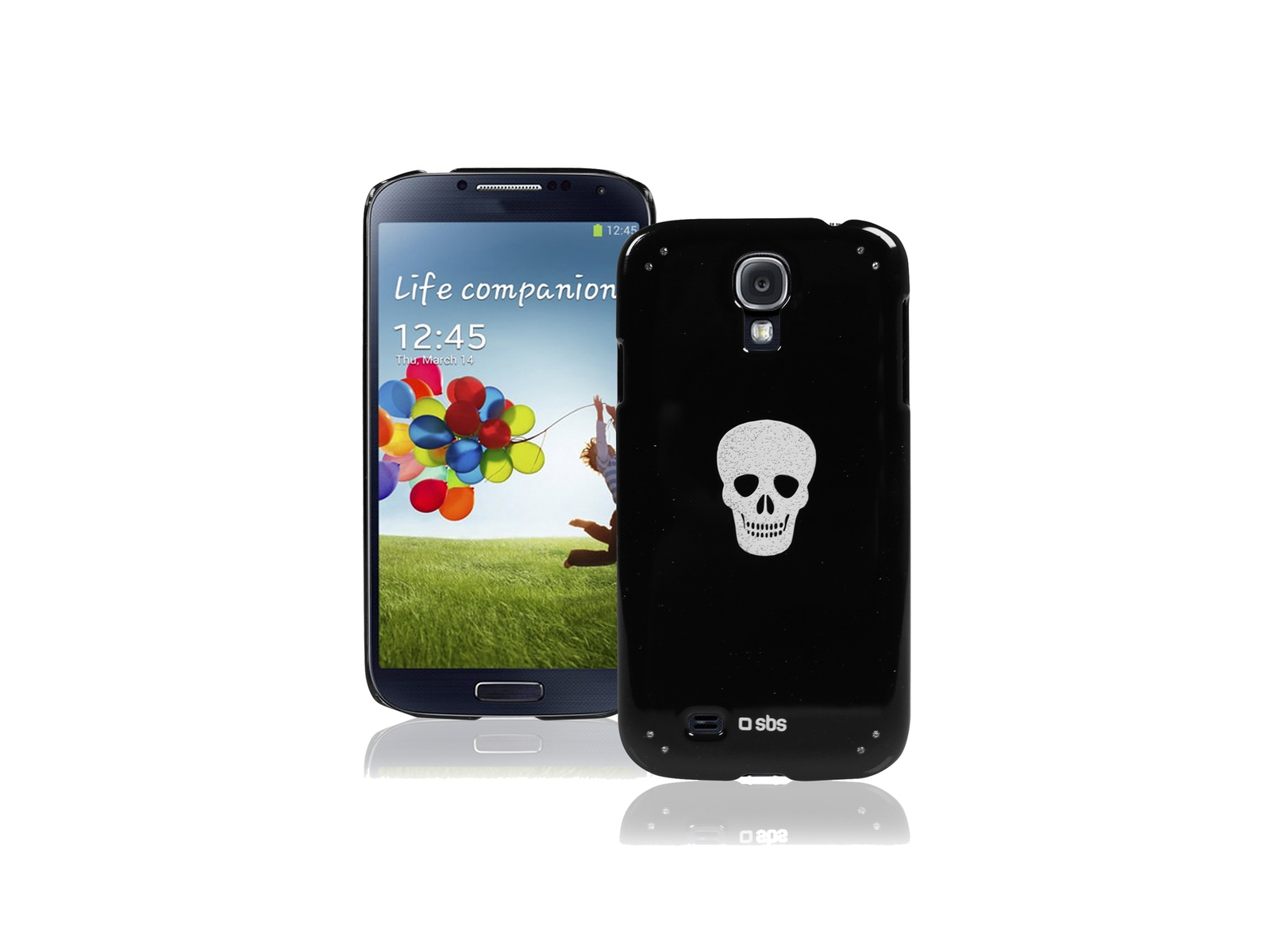 Чехол Bijoux SBS для Samsung Galaxy S4 Mini (блестки, черный)