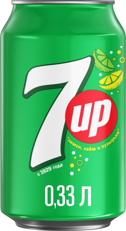 Фото - 7-UP Лимон-Лайм напиток сильногазированный, 0,33 л 7 up лимон лайм напиток сильногазированный 0 33 л