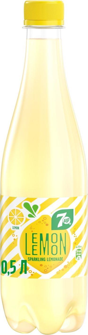Фото - 7-UP Lemon Искрящийся лимонад напиток сильногазированный, 0,5 л 7 up лимон лайм напиток сильногазированный 0 33 л