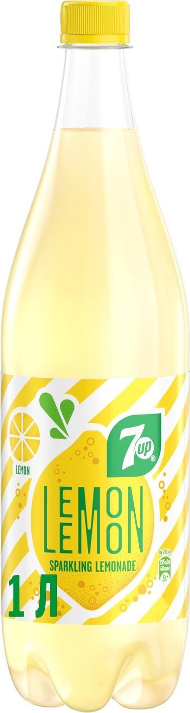 Фото - 7-UP Lemon Искрящийся лимонад напиток сильногазированный, 1 л 7 up лимон лайм напиток сильногазированный 0 33 л