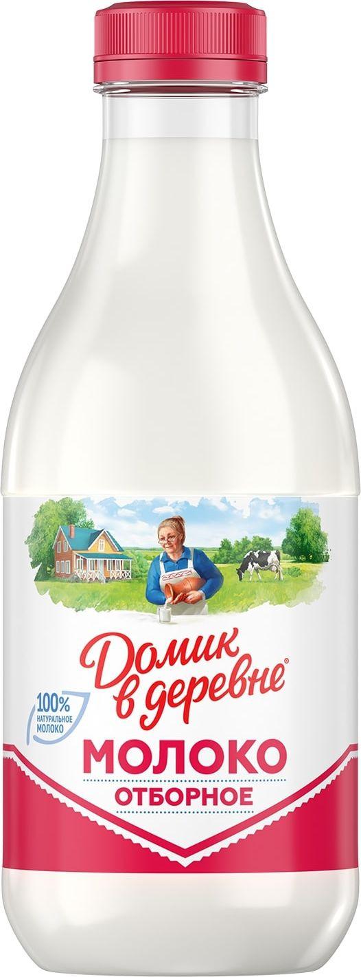 Молоко пастеризованное 3,5-4,5% Домик в деревне, 930 мл Домик в Деревне