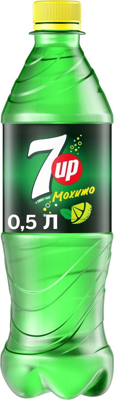 Фото - Напиток газированный 7-UP Лайм и мята, 0,5 л 7 up лимон лайм напиток сильногазированный 0 33 л