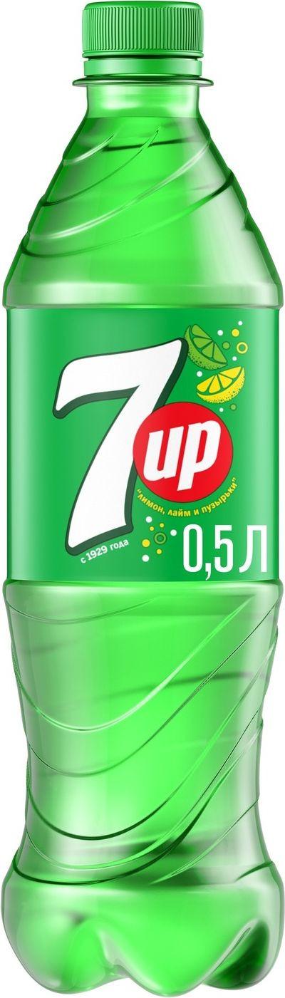 Фото - Напиток газированный 7-UP Лимон и лайм, 0,5 л 7 up лимон лайм напиток сильногазированный 0 33 л