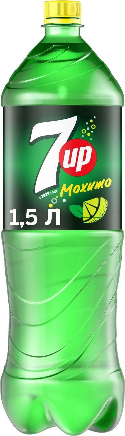Фото - Напиток газированный 7-UP Лайм и мята, 1,5 л 7 up лимон лайм напиток сильногазированный 0 33 л