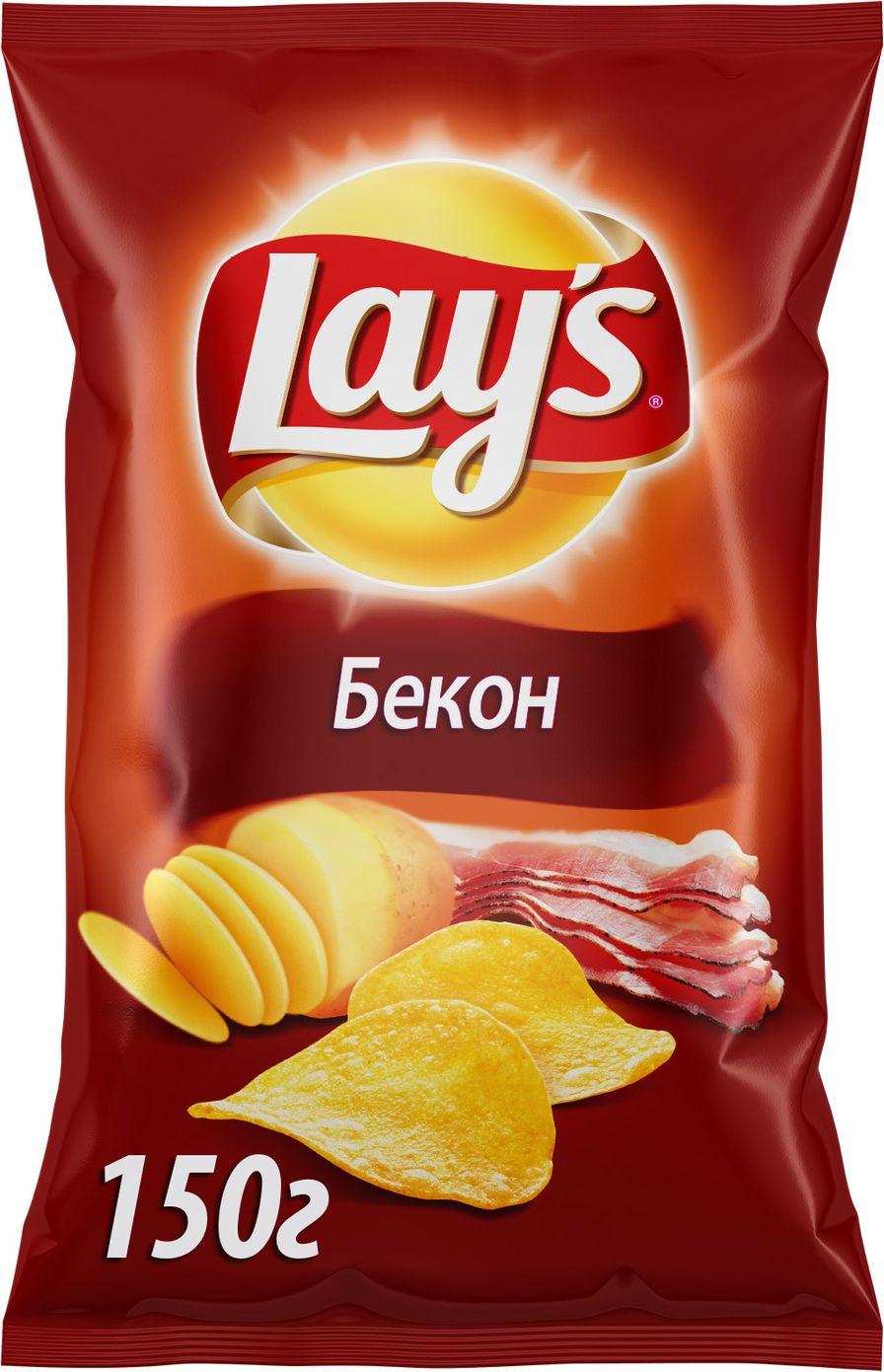 Чипсы Lay's Бекон картофельные, 150 г чипсы картофельные русская картошка колбаски гриль 150 г