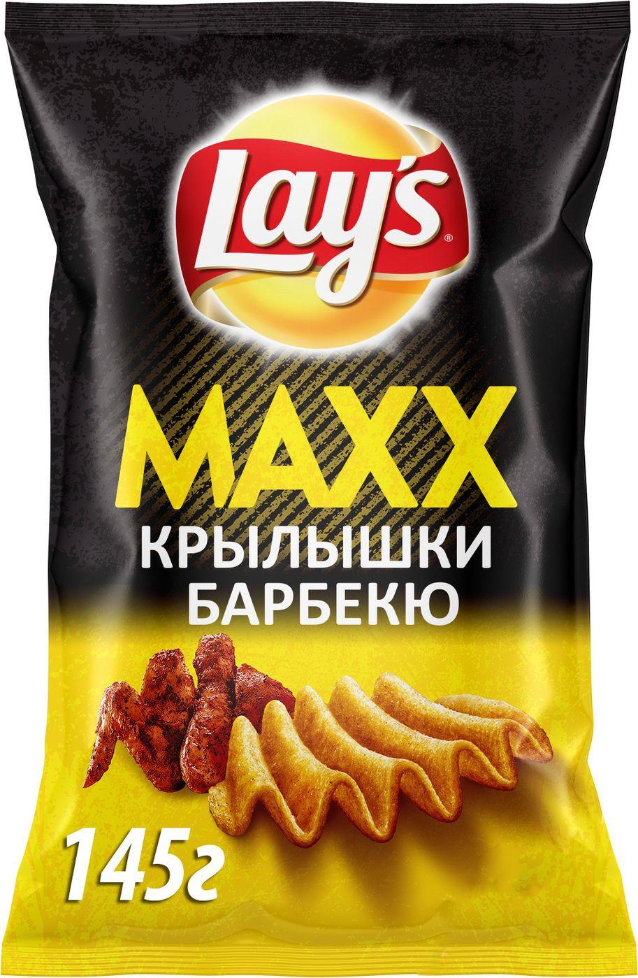 Чипсы Lay's Maxx Куриные крылышки барбекю картофельные, 145 г барбекю бар aqua