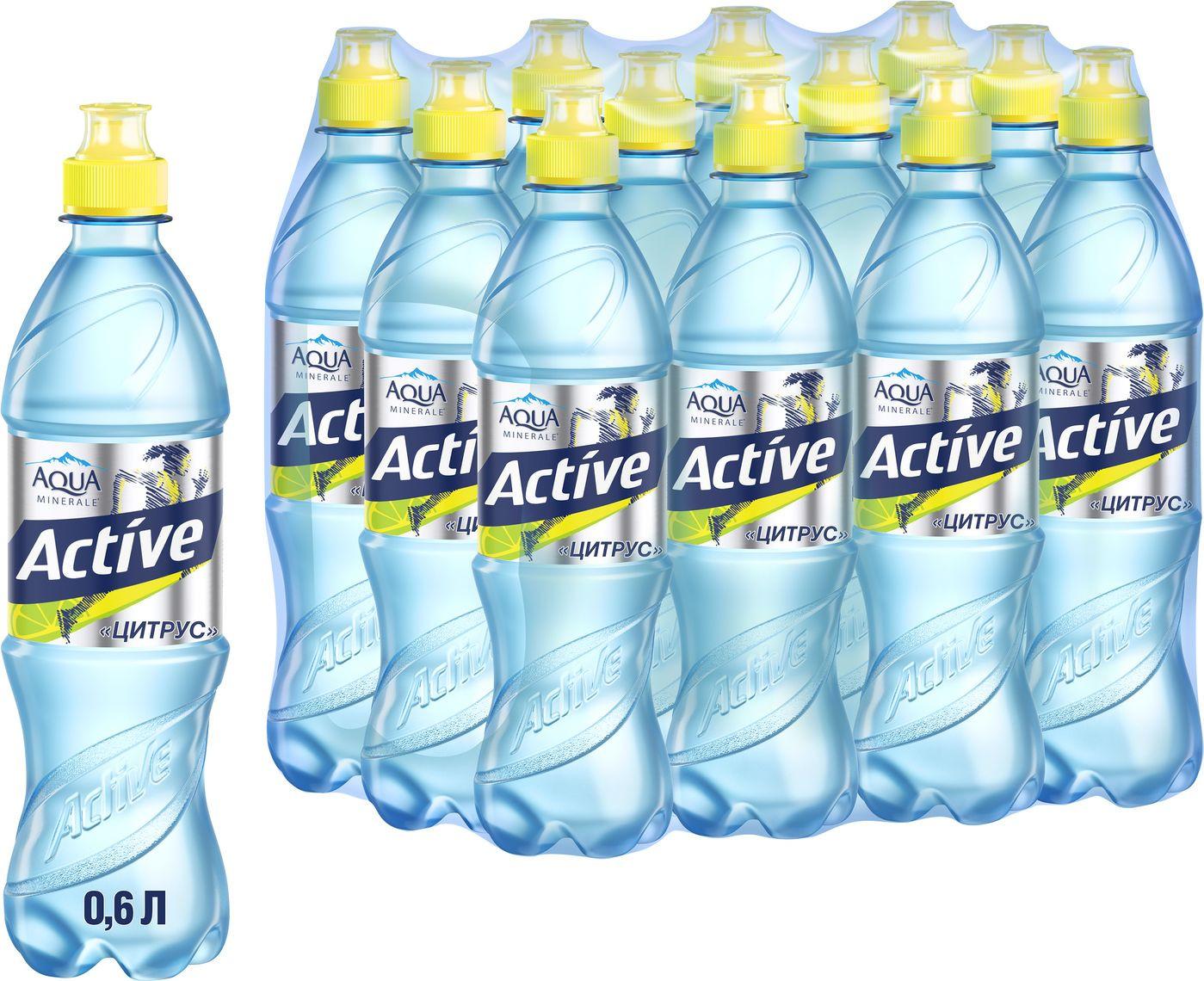 Фото - Вода Aqua Minerale Active Цитрус, 600 мл по 12 шт active cut out elastic vest in navy
