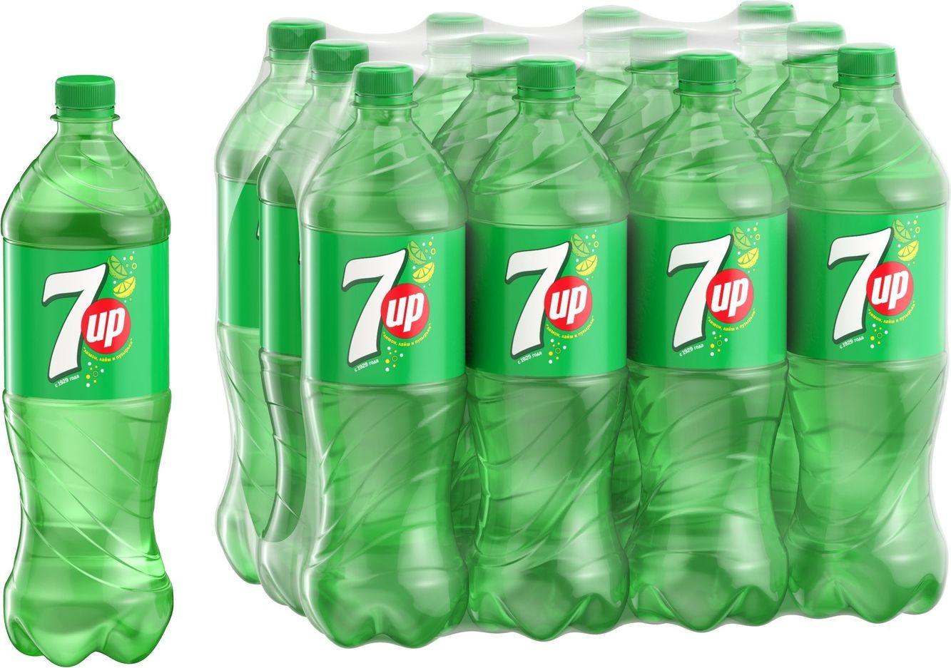 Фото - Газированный напиток 7-UP Лимон и лайм, 12 шт по 1 л 7 up лимон лайм напиток сильногазированный 0 33 л