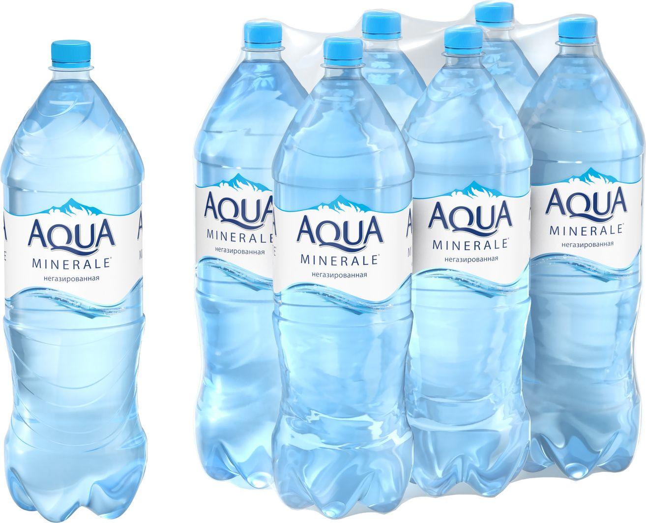 Вода Aqua Minerale негазированная питьевая, 2л (упаковка 6шт)