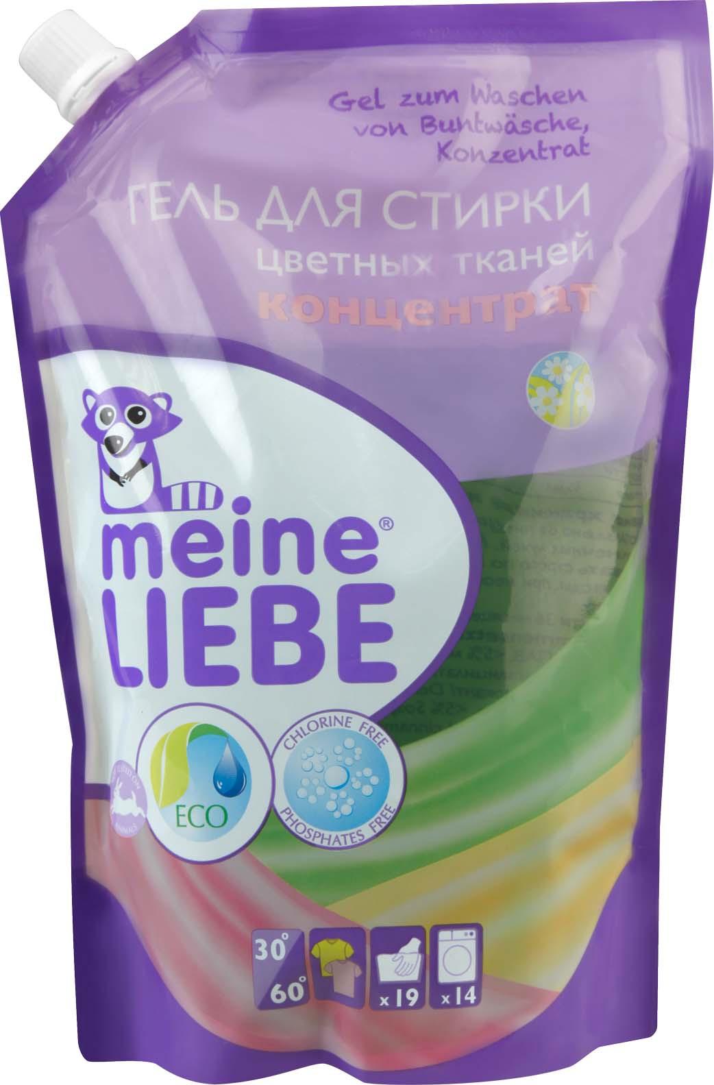 Гель для стирки Meine Liebe, концентрат, для цветного белья, 750 мл гель для мытья посуды meine liebe концентрат гранат и цветы шиповника 500 мл