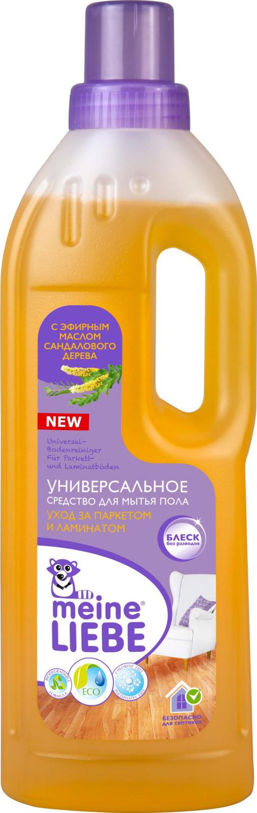 Средство для мытья пола Meine Liebe Уход за паркетом и ламинатом, универсальное, 750 мл meine liebe универсальное средство для мытья пола антибактериальный эффект 750 мл