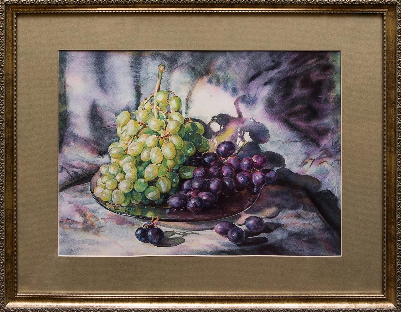 Фото - Картина акварель Гроздь винограда Коробкина коробкина т ред ярославль