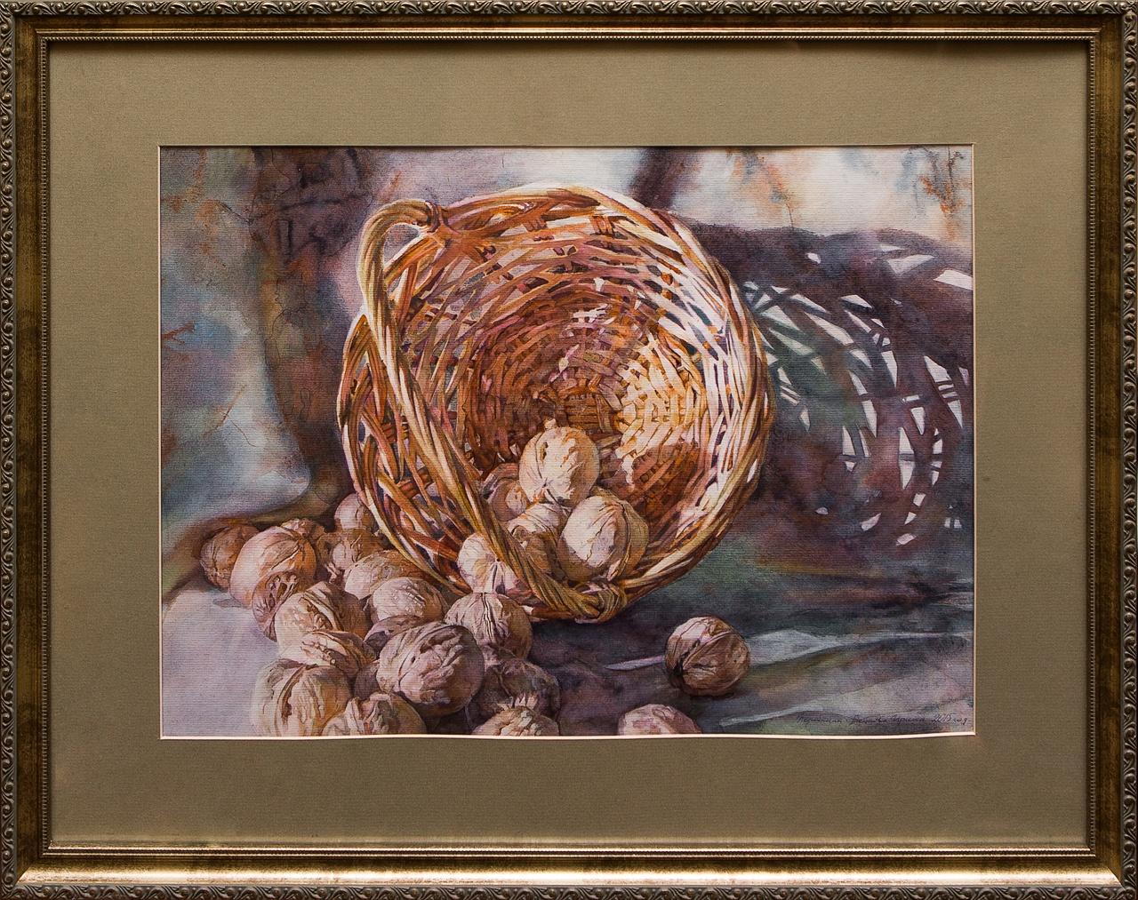 Фото - Картина акварель Корзина с орехами Коробкина коробкина т ред ярославль