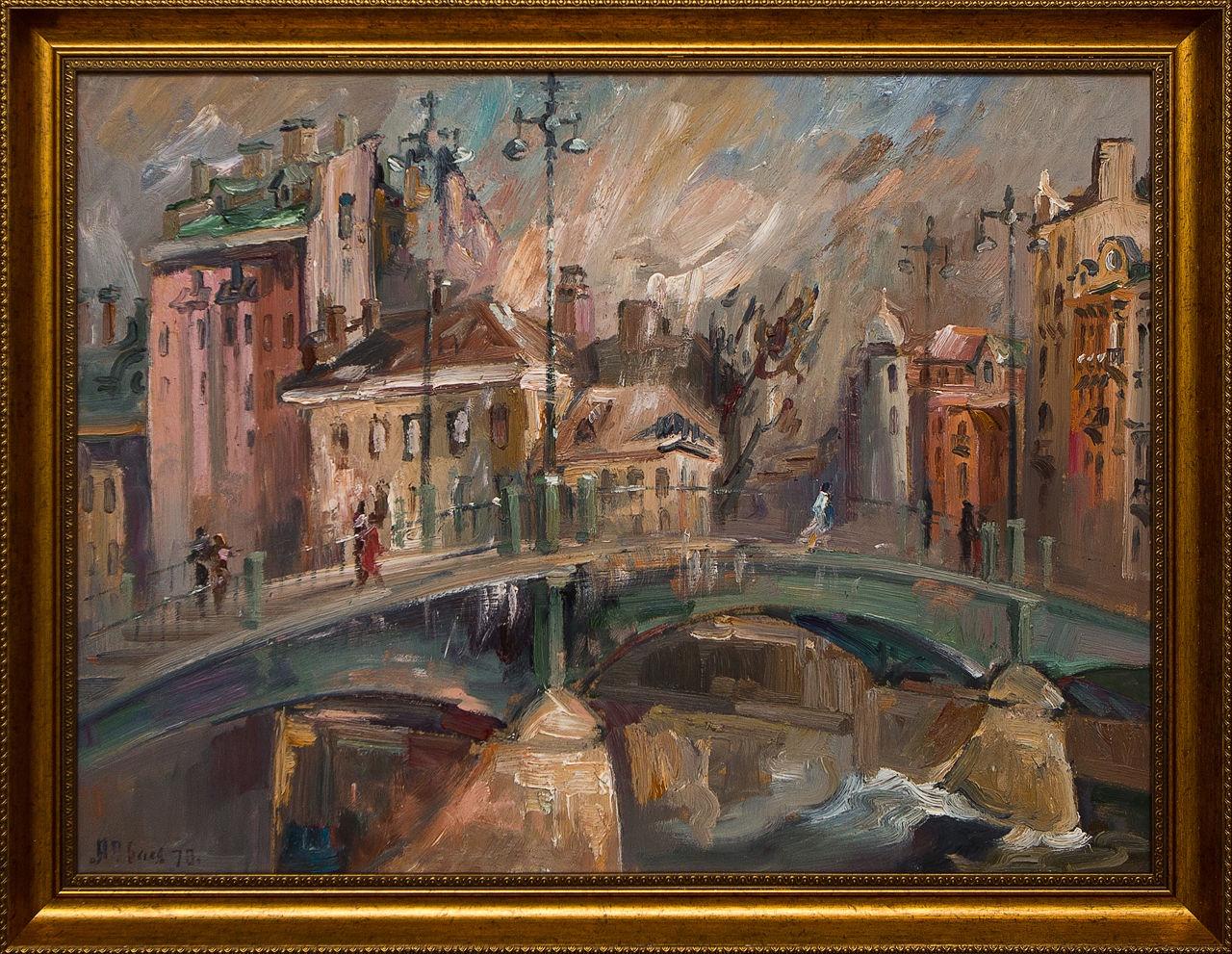 Картина маслом Английский мост Долматов долматов в сост повесть светлой любви