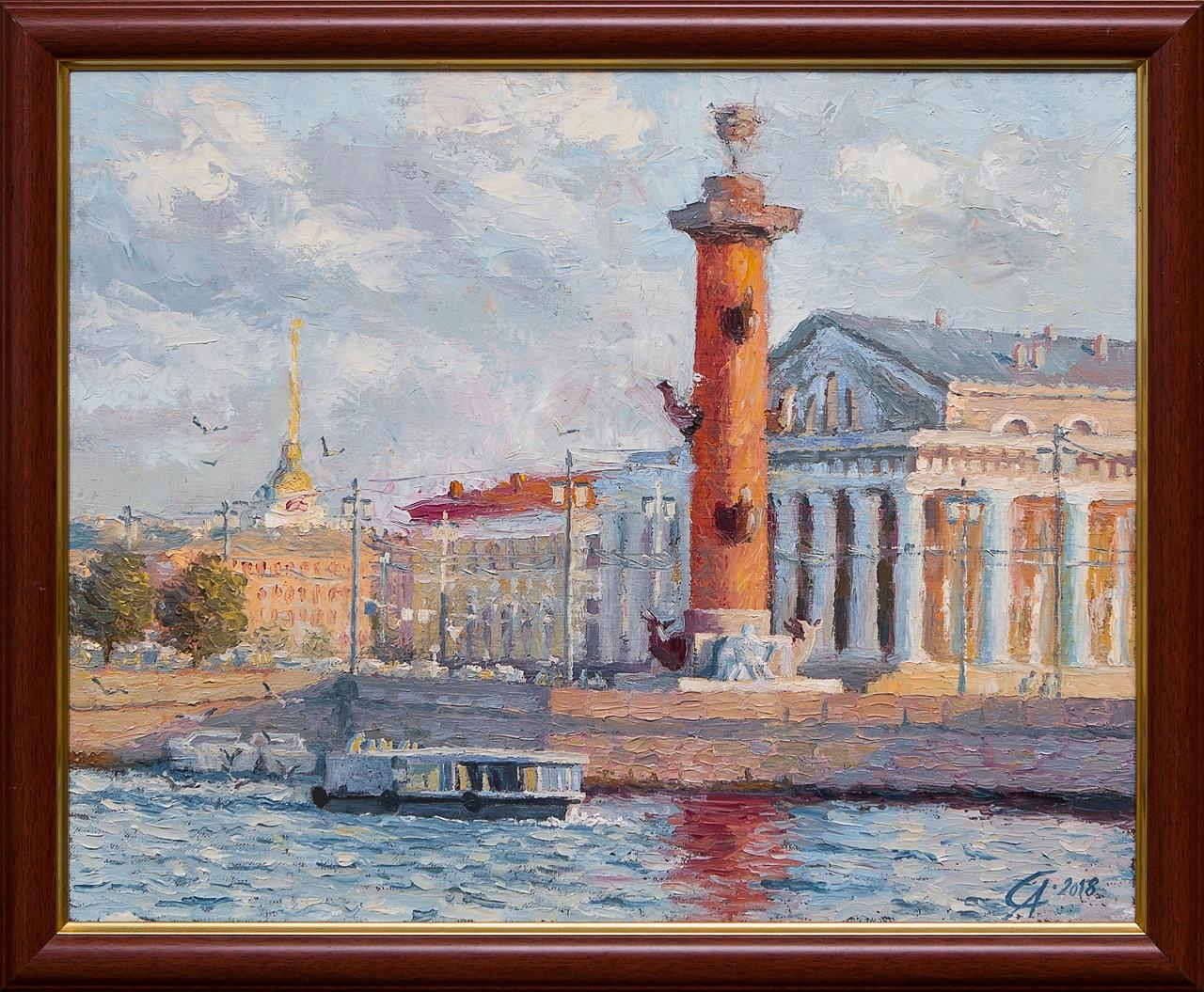 Картина маслом Биржа Степанков картина маслом биржа степанков