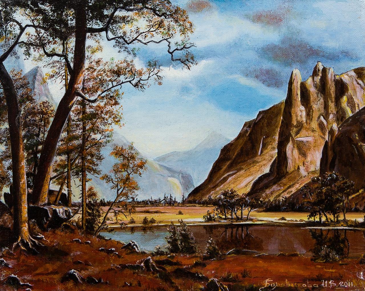 Картина маслом Горы Боровикова картина горы