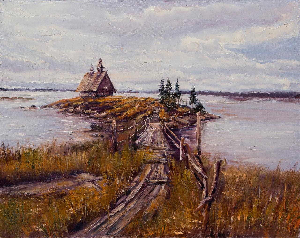 Картина маслом Остров Тимофеева картина маслом каменный остров винокуров