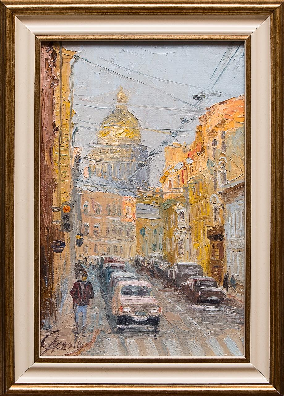Картина маслом Раннее утро Степанков картина маслом биржа степанков