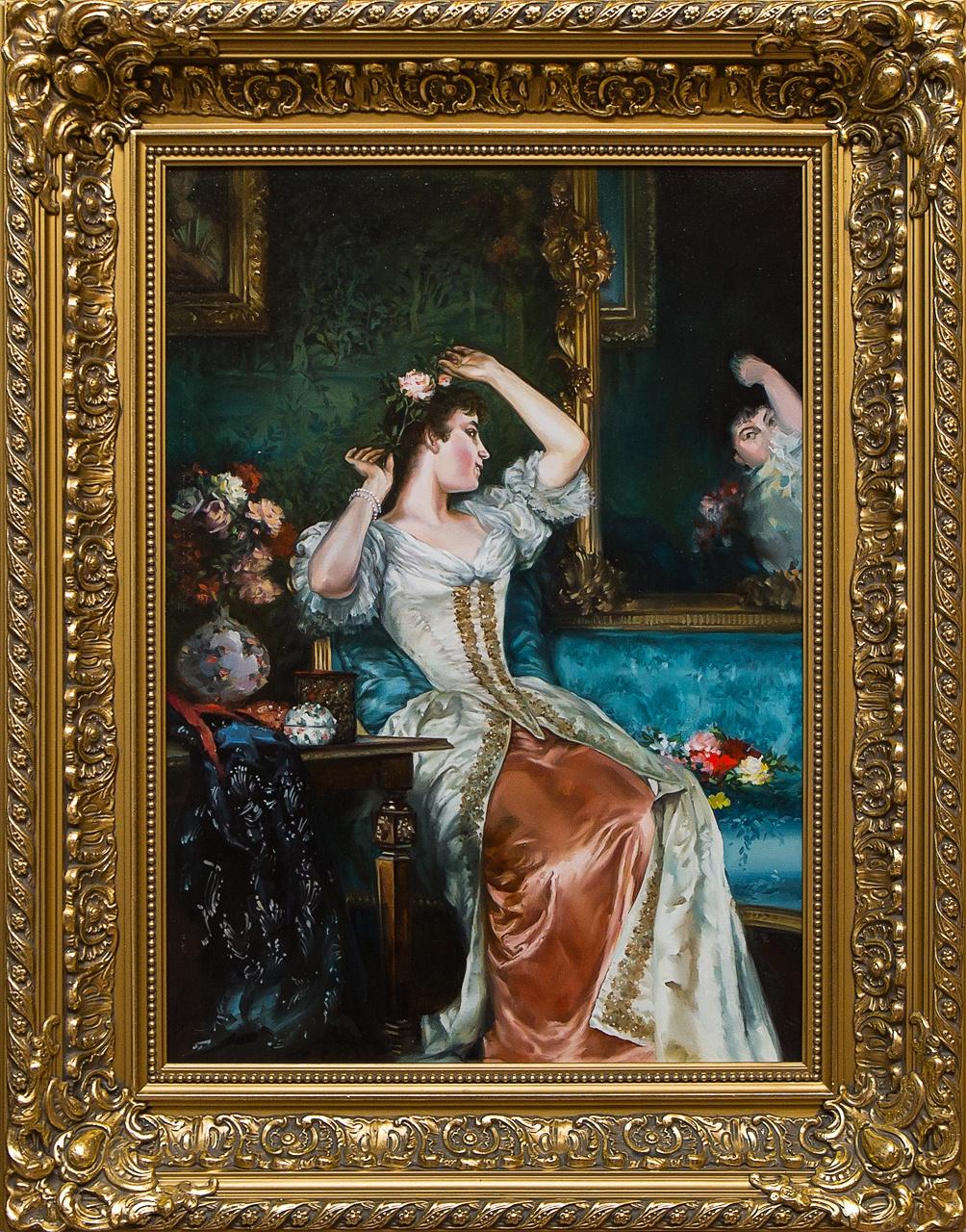 """Картина маслом """"У зеркала"""" Ларионова"""