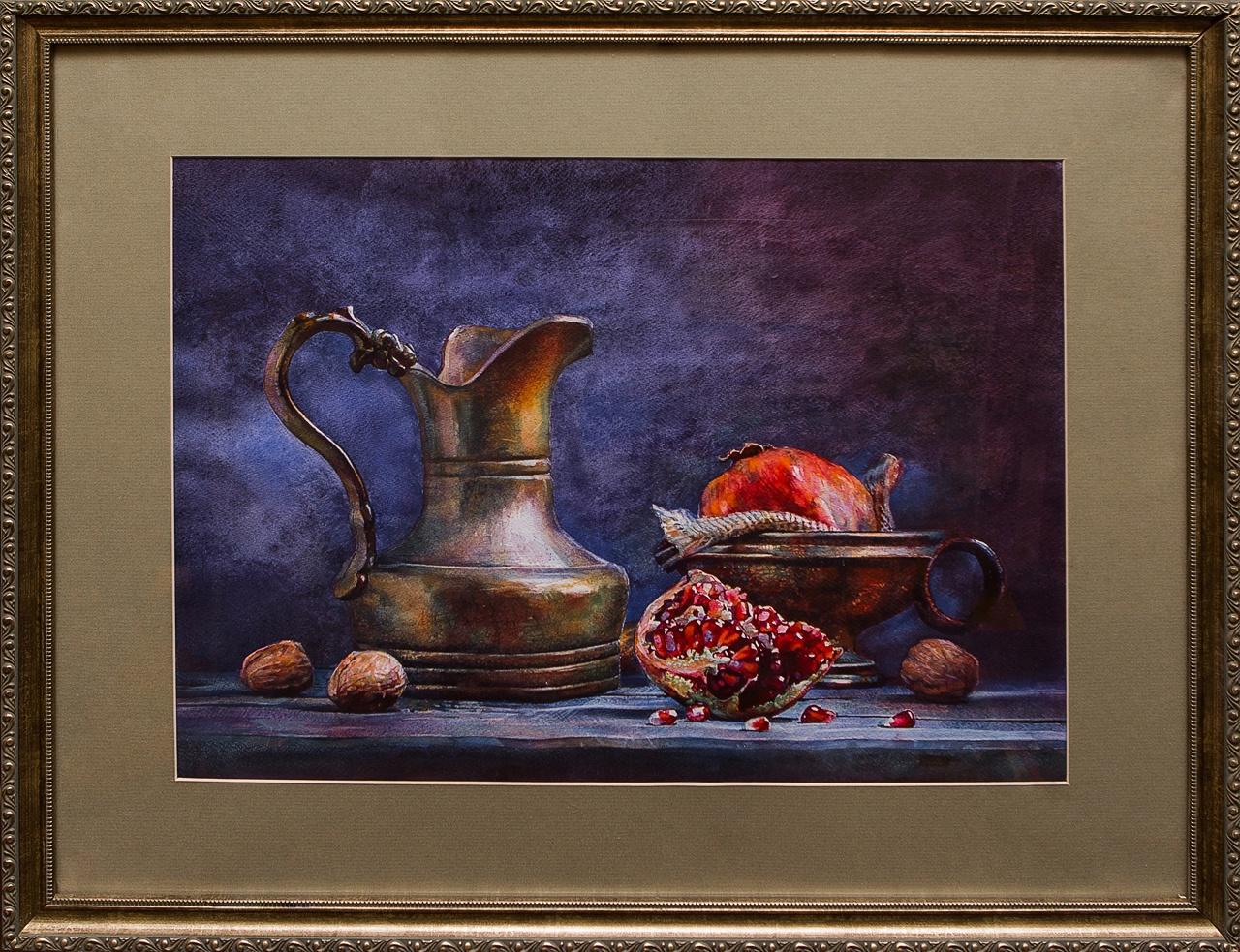 Фото - Картина акварель Натюрморт с гранатом Коробкина коробкина т ред ярославль