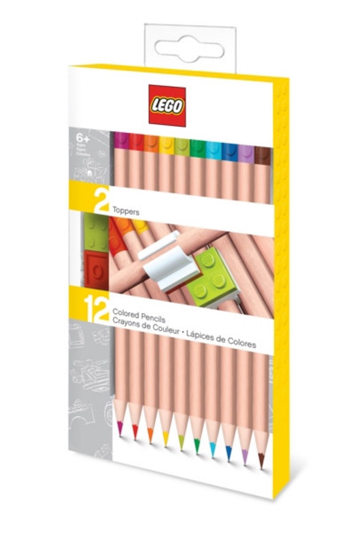 52064 Набор цветных карандашей (12 шт.) с 2 насадками в форме кирпичика LEGO