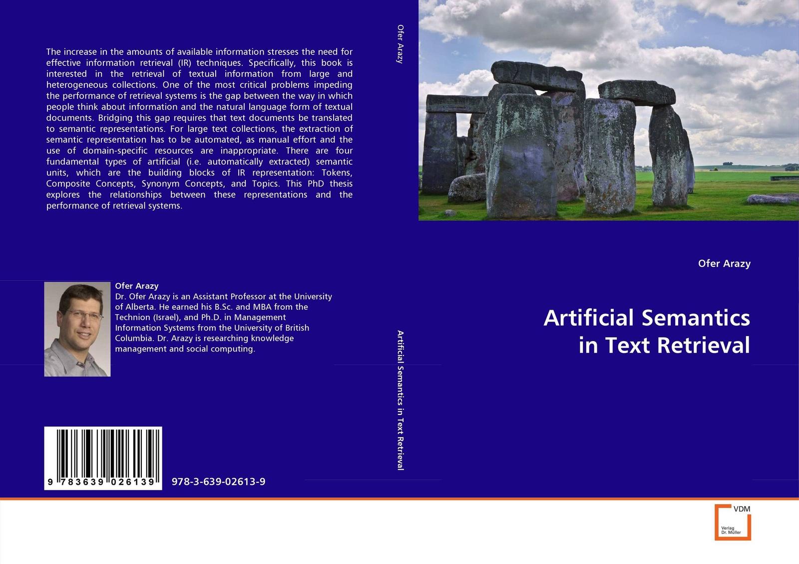 Ofer Arazy Artificial Semantics in Text Retrieval christian sallaberry geographical information retrieval in textual corpora