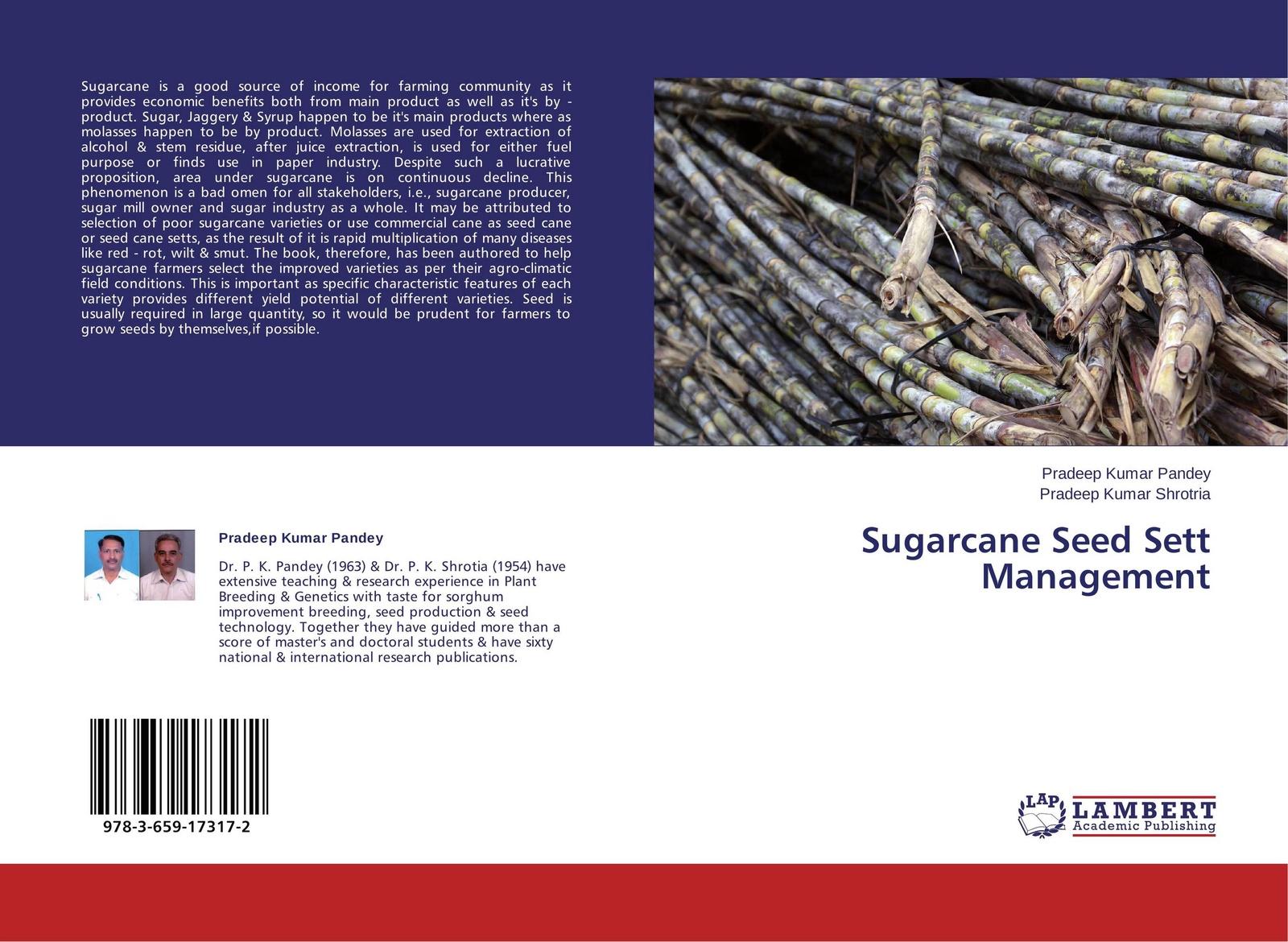 Pradeep Kumar Pandey and Pradeep Kumar Shrotria Sugarcane Seed Sett Management цена и фото