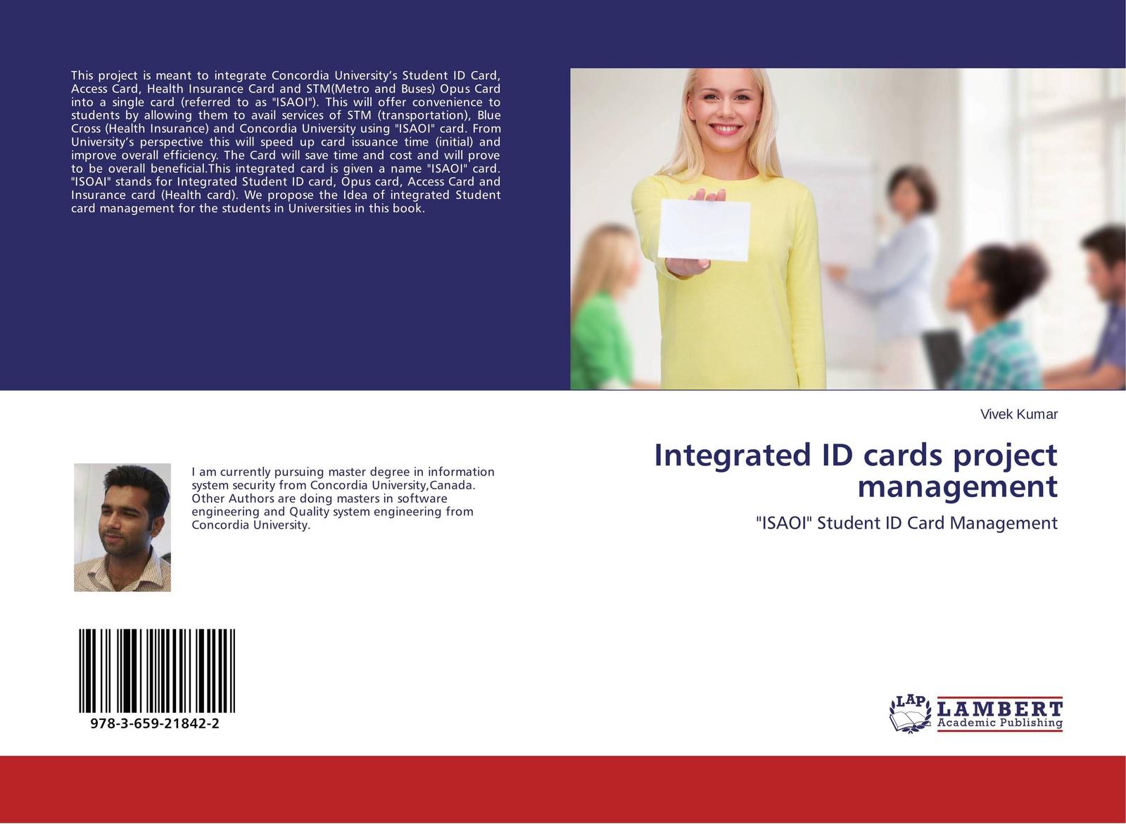 Vivek Kumar Integrated ID cards project management flower print card case