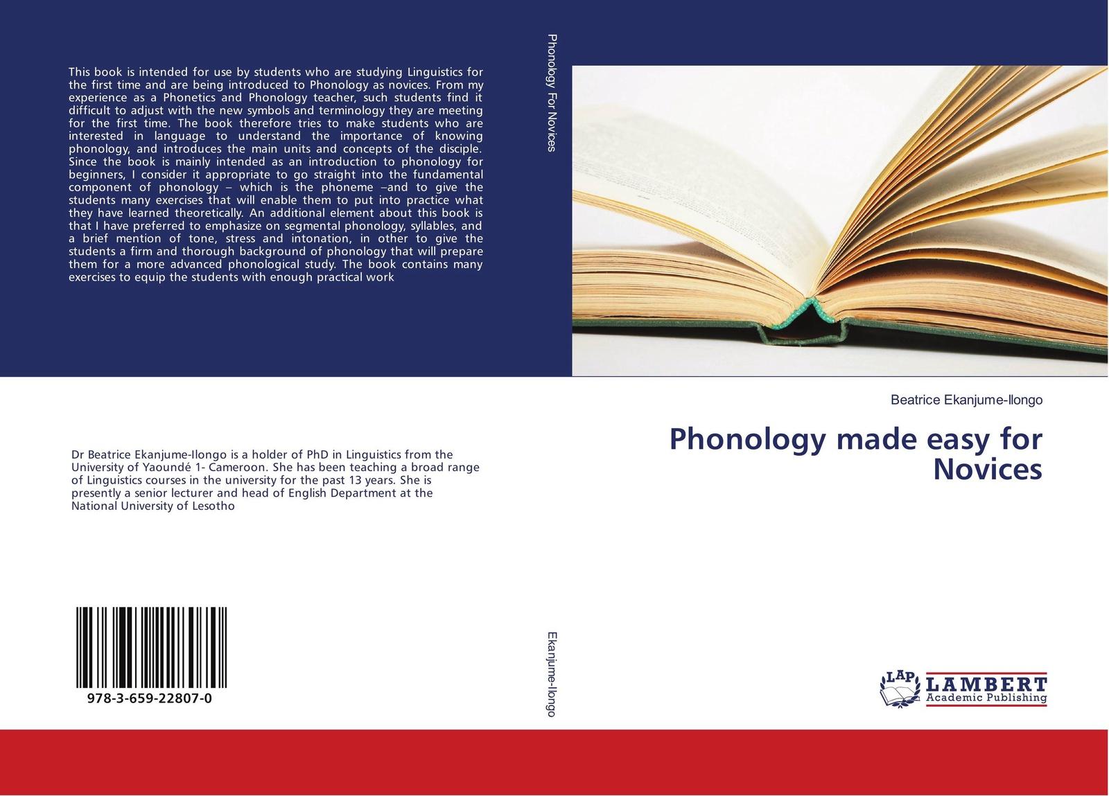 Beatrice Ekanjume-Ilongo Phonology made easy for Novices mehmet yavas applied english phonology