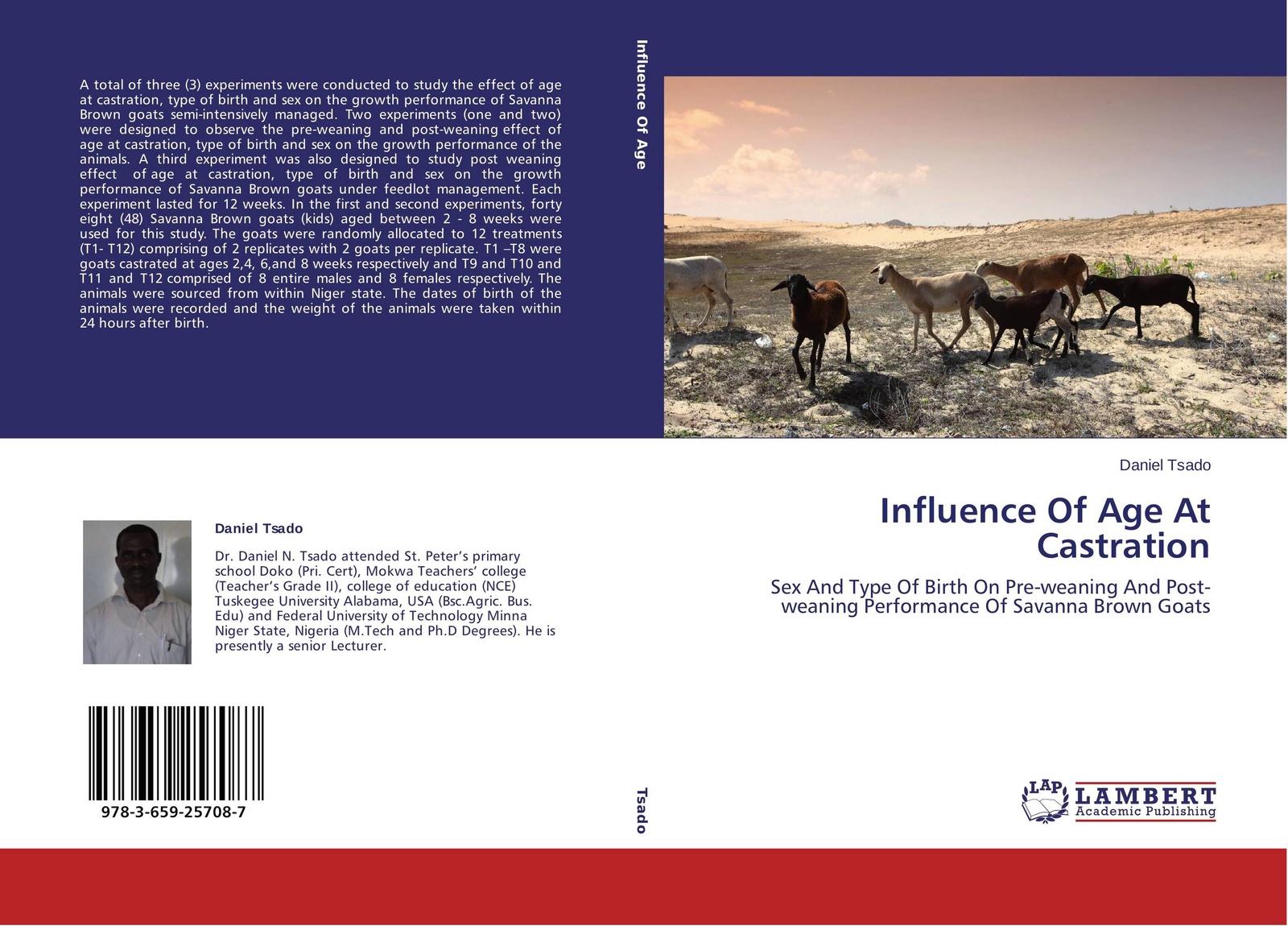 Daniel Tsado Influence Of Age At Castration недорго, оригинальная цена