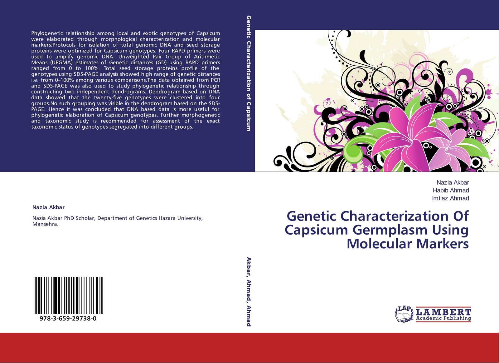 Nazia Akbar,Habib Ahmad and Imtiaz Ahmad Genetic Characterization Of Capsicum Germplasm Using Molecular Markers недорго, оригинальная цена