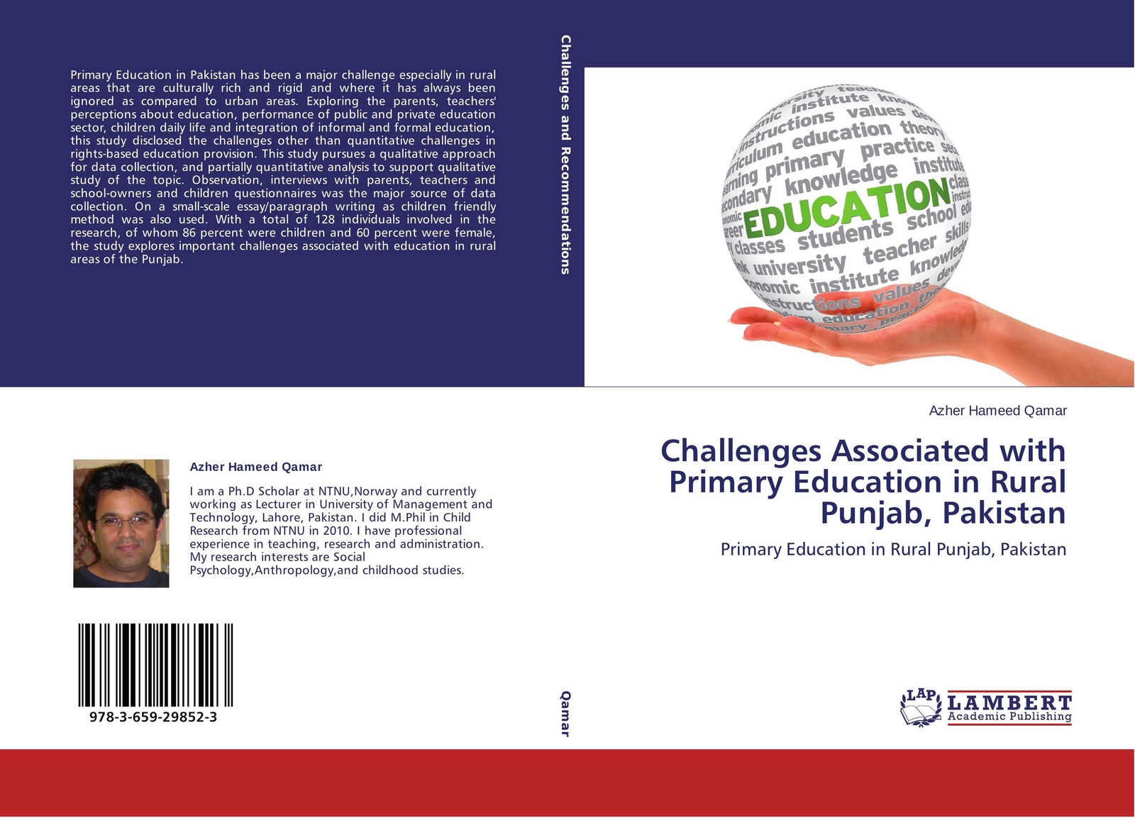 Azher Hameed Qamar Challenges Associated with Primary Education in Rural Punjab, Pakistan muhammad altaf qureshi universalization of primary education in pakistan