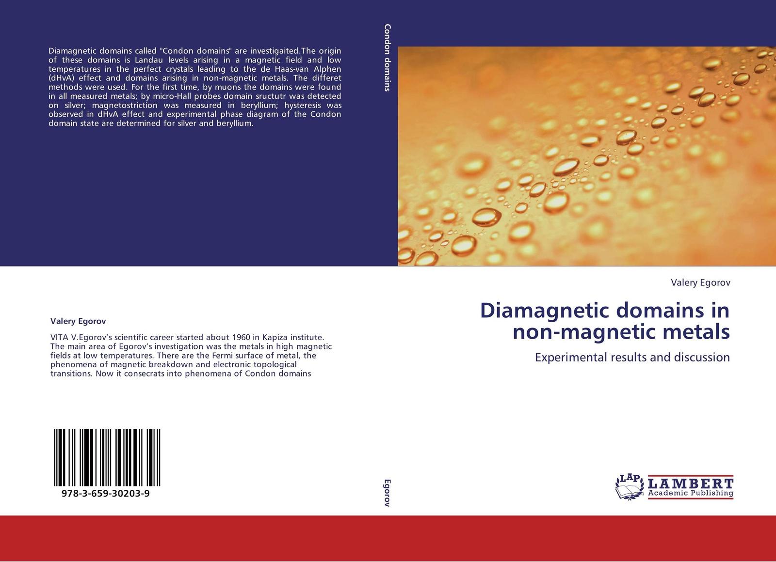 Valery Egorov Diamagnetic domains in non-magnetic metals недорого