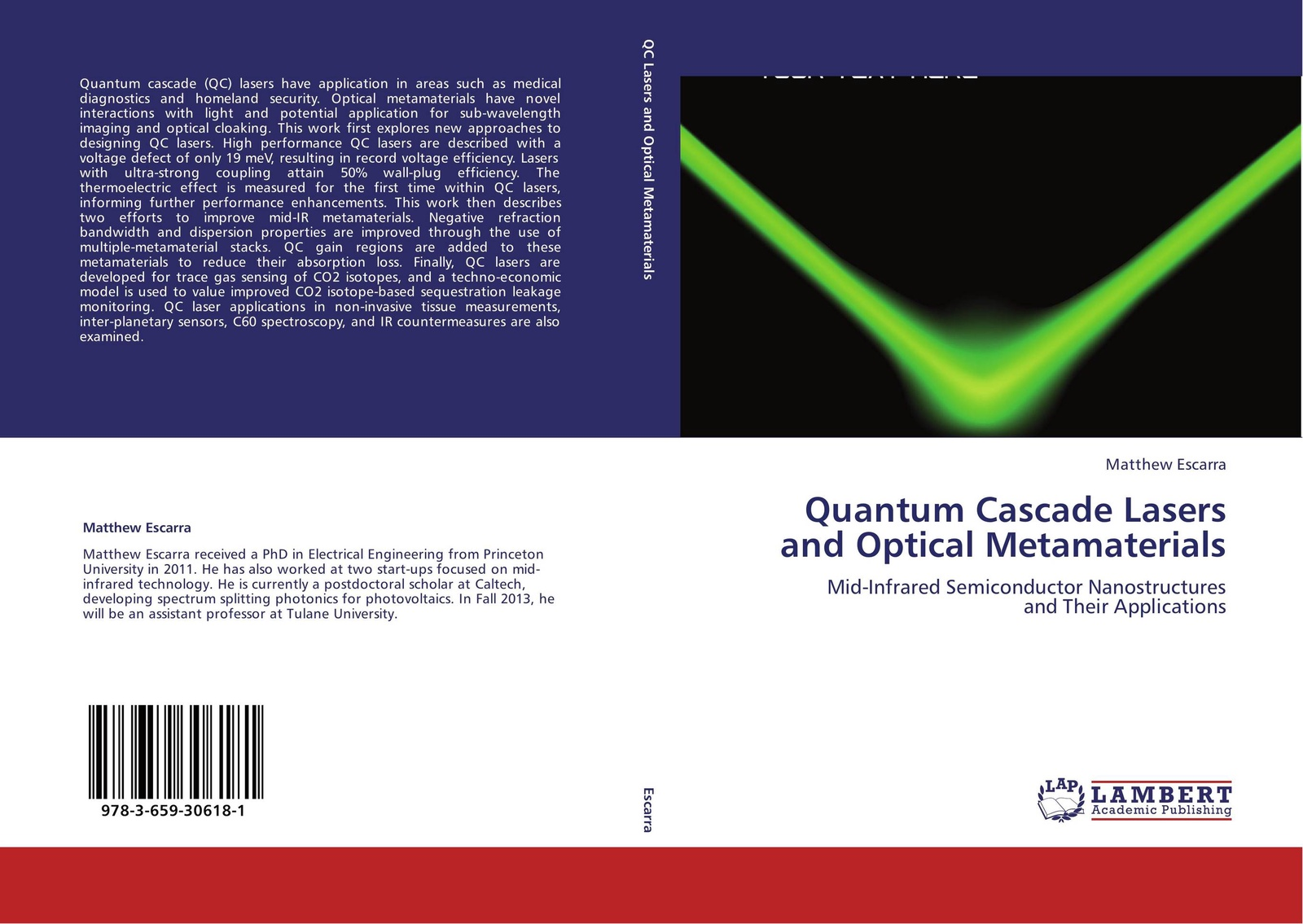 цены Matthew Escarra Quantum Cascade Lasers and Optical Metamaterials